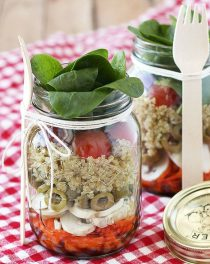 Salad in a jar recipes are the perfect option for a quick and easy make ahead lunch!