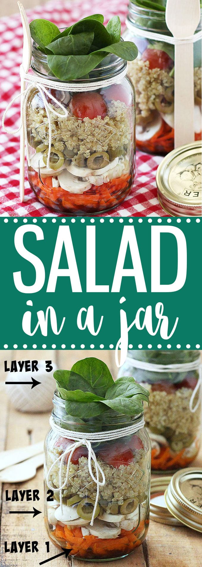 Layered salad in a jar as easy as apple pie salad in a jar recipes are the perfect option for a quick and easy make ahead forumfinder Gallery