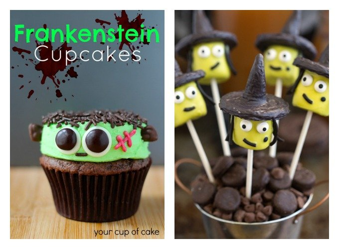 10 creative and easy Halloween treats. Spider cookies, mummy pops, monster cupcakes and more
