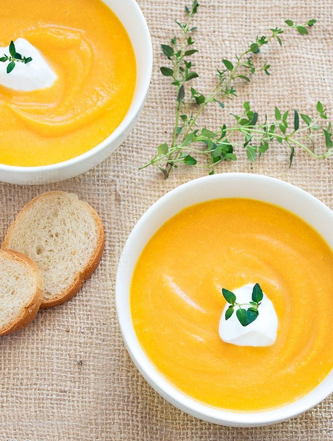 Roasted Butternut Squash Soup - an easy, creamy, dairy free, and healthy fall recipe.