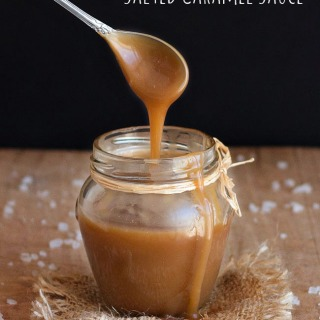This easy homemade salted caramel sauce is the perfect creamy topping on ice cream, cupcakes, cakes, brownies, pancakes, pies, etc. It also makes a great gift for the holidays or special occasions. No candy thermometer needed.