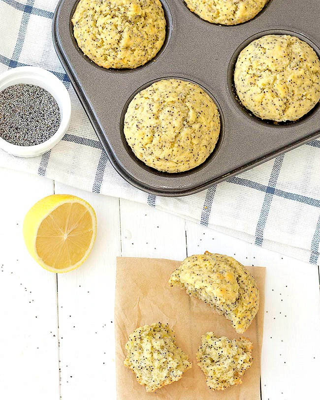 ... these lemon poppy seed muffins. They are sweet, tangy and so lemony