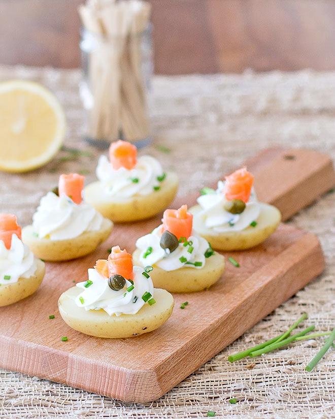 Potato Bites with Cream Cheese & Smoked Salmon - As Easy ...