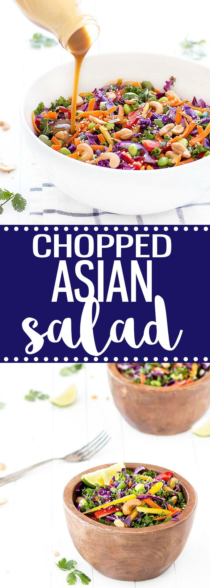 Chopped Asian Salad with Peanut Dressing - a healthy salad full of amazing colors, flavors and textures!!