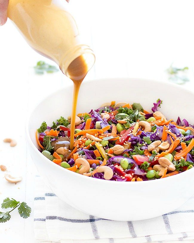 Chopped Asian Salad with Peanut Dressing