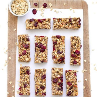 healthy no-bake granola bars