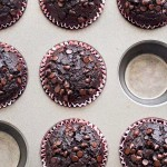 double chocolate muffins (no eggs, no butter)
