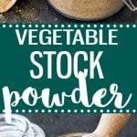 Homemade vegetable stock powder- easy to make and healthier than the store bough one. 100% natural, free of preservative and less sodium.