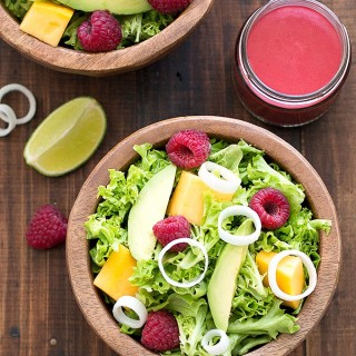 avocado mango raspberry salad