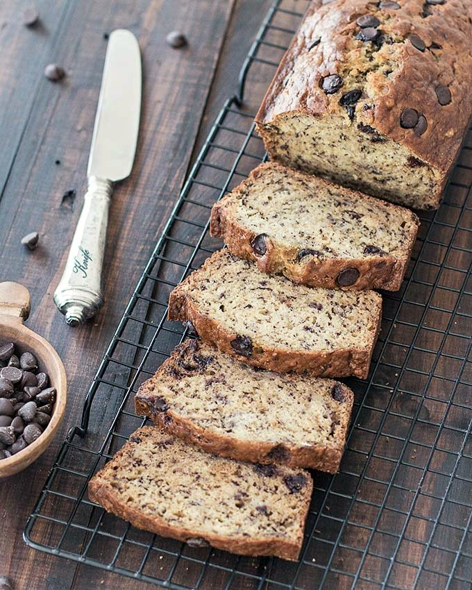 easy banana chocolate chip bread
