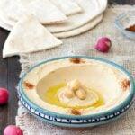 homemade Lebanese hummus