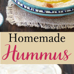 Homemade Lebanese hummus is super easy to make, tasty, healthy and requires just a few simple ingredients. Smooth and creamy with the skin on