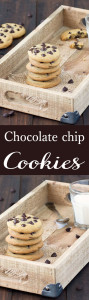 Slightly crispy around the edges, soft and chewy in the middle. These are the perfect chocolate chip cookies! Adapted from Hummingbird Bakery