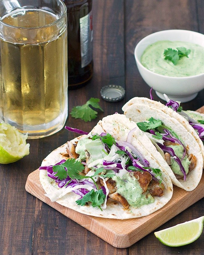 Blackened flounder tacos for Fish taco recipe sauce