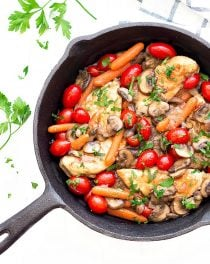 easy chicken and veggies skillet