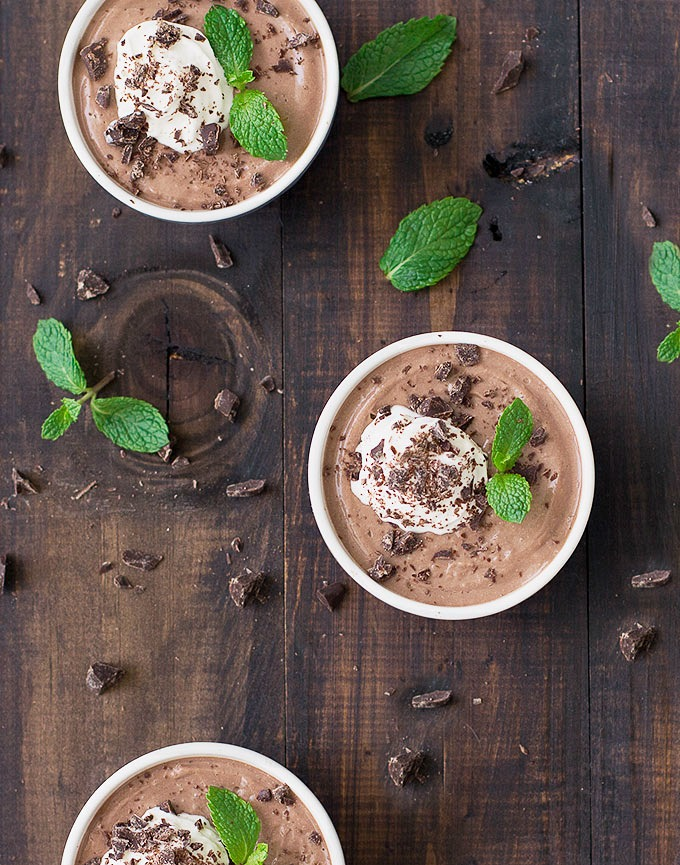 Greek yogurt chocolate panna cotta
