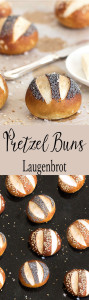 These pretzel buns (Laugenbrot) have a chewy, golden outer crust and a soft centre. If you love pretzels, you'll love these buns.