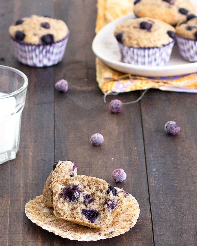 skinny banana blueberry muffins