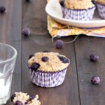 skinny banana blueberry muffins