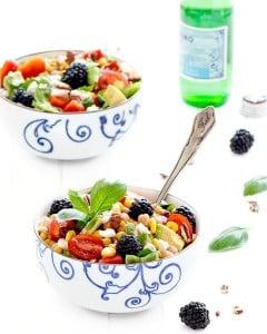 balsamic rainbow summer salad