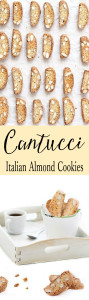 Cantucci or Biscotti di Prato are almond cookies from Tuscany. The are made without butter or oil and are twice baked to crisp perfection.