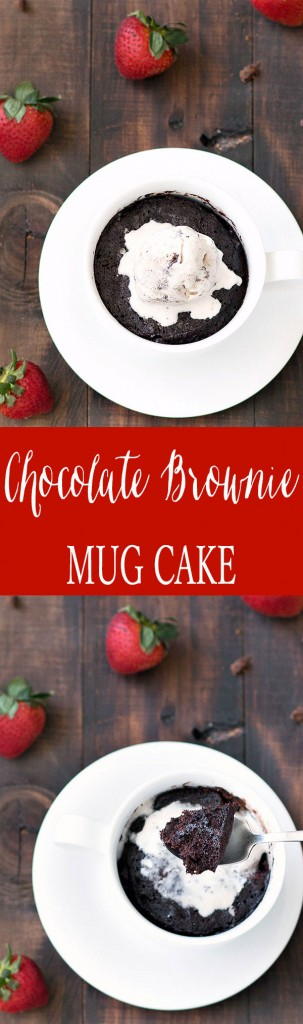 A quick fix for chocolate cravings ready in 4 minutes. This chocolate brownie mug cake is easy to make, moist, rich and fudgy.