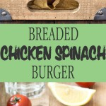 These breaded oven baked chicken spinach burgers are crunchy on the outside , juicy on the inside. A quick and easy weeknight meal