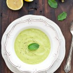 chilled asparagus avocado soup