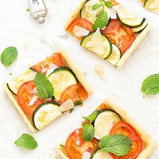 crazy dough tomato zucchini tart