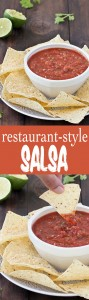 Not only this easy homemade restaurant-style salsa is bursting with flavors, but it couldn't be quicker to make. This the best salsa!