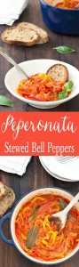 Peperonata (Stewed Bell Peppers) is a rustic Italian dish made with only a few ingredients but with tons of flavor. vegetarian, low-calorie