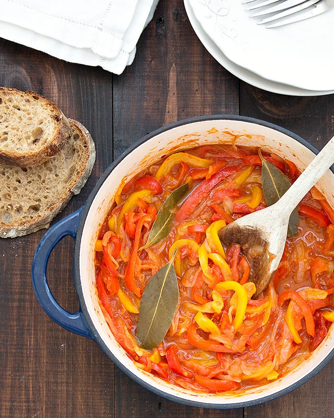 peperonata - stewed bell peppers