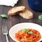peperonata - stewed bell peppers