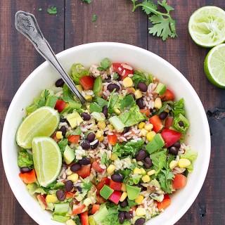vegan burrito salad bowls