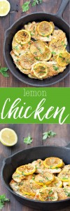 A tasty recipe ready in under 20 minutes. This 5 ingredient lemon chicken is perfect for a quick and easy weeknight dinner.