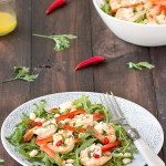 spicy shrimp arugula cannellini salad