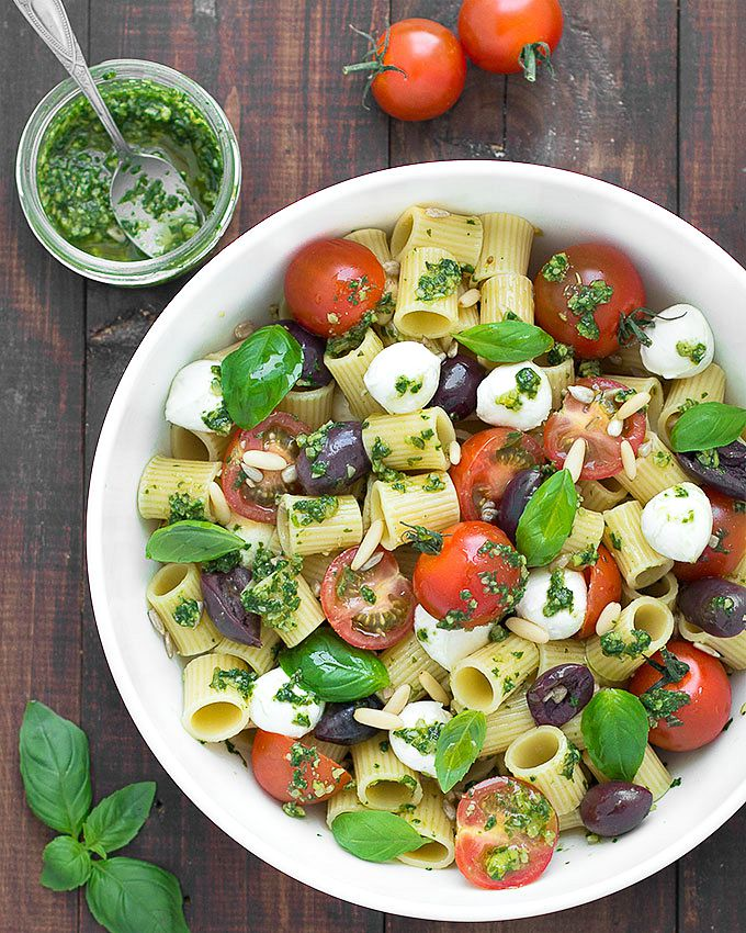 Summer Pesto Pasta Salad - As Easy As Apple Pie