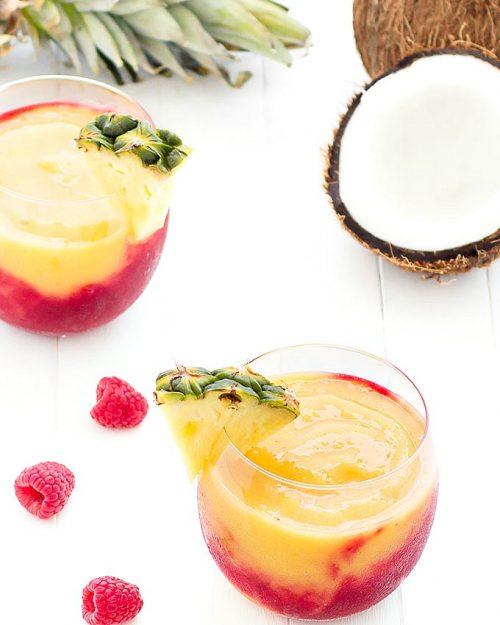 tropical raspberry swirl smoothie