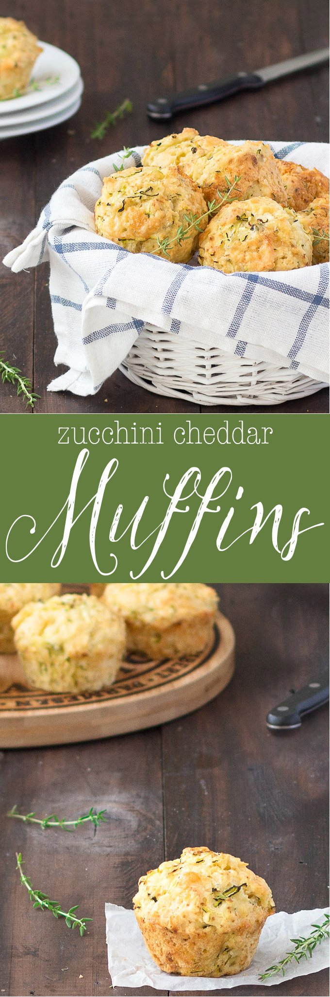 These zucchini cheddar cheese savory muffins are super delicious, moist and full of flavor. Serve them for a quick lunch with a salad, with a bowl of soup, for breakfast, and are great for the kids lunch boxes.