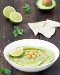 avocado lime hummus