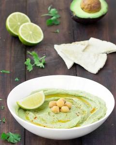 avocado lime hummus