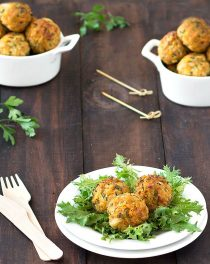 baked cheese stuffed chicken meatballs