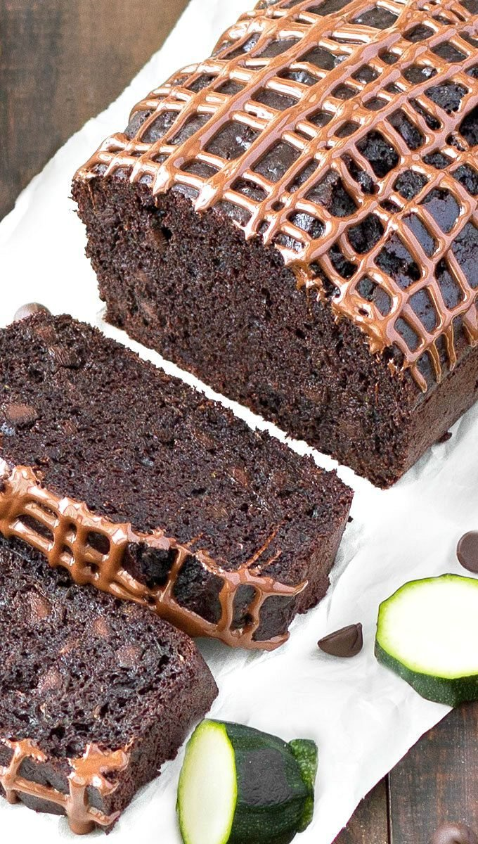 Easy Double Chocolate Zucchini Bread - super moist, rich, fudgy and loaded with chocolate chips! I recommend making a double batch because it freezes really well and it disappears quickly!