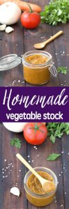 Homemade vegetable stock is tastier, healthier and cheaper than the store bought one. The whole process takes no longer than 2 hours