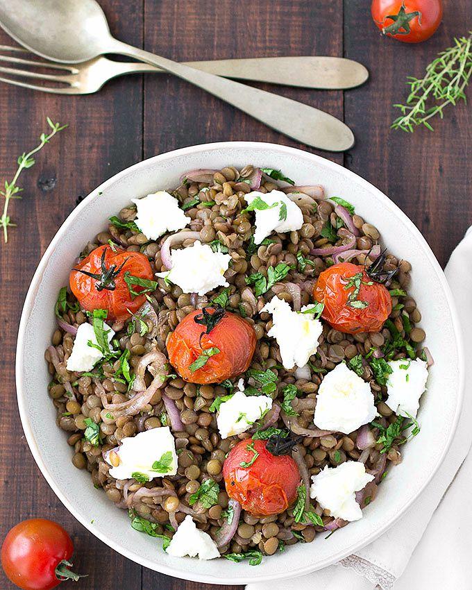 Mediterranean Warm Lentil Salad - As Easy As Apple Pie