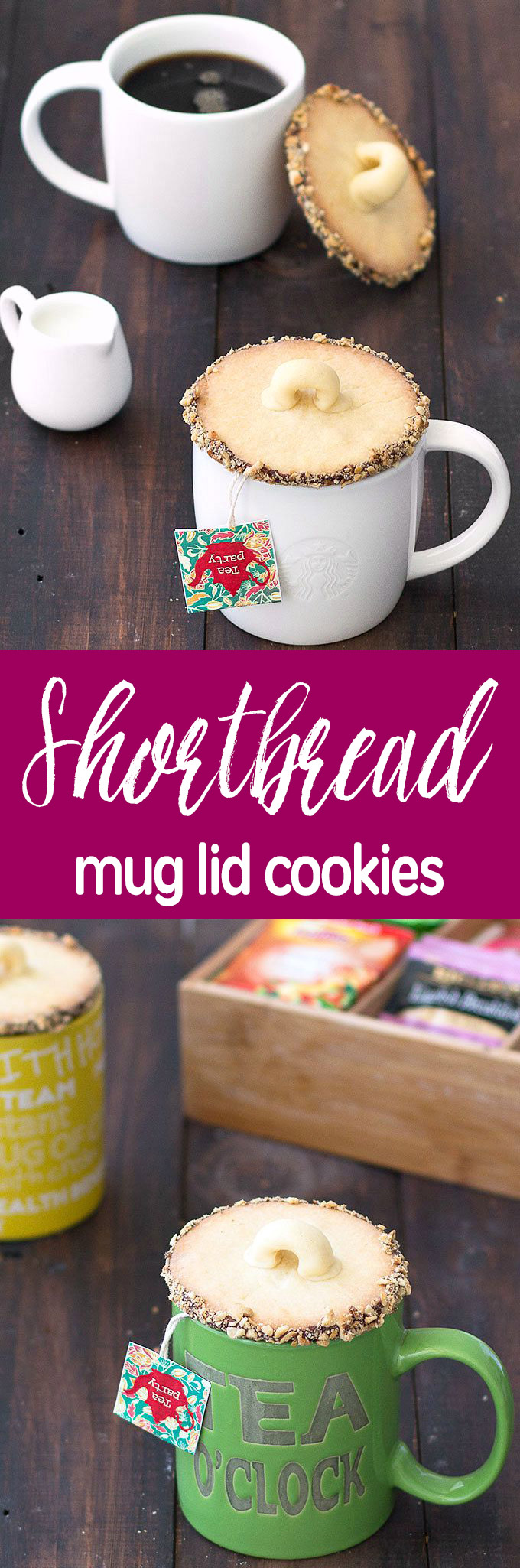 Shortbread mug lid cookies - very easy to make, wrap them up with a pretty mug and give them to friends and family as gifts!