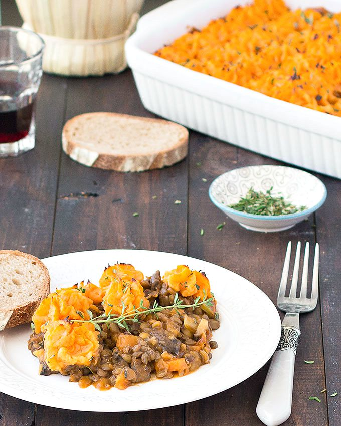 This vegan shepherd's pie is not just a comforting meal, it's also easy, hearty, nutritious, budget-friendly, and utterly delicious! With its rich filling of lentils and veggies tucked under a layer of soft mashed sweet potato, it's the perfect dinner on a chilly fall/ winter night!