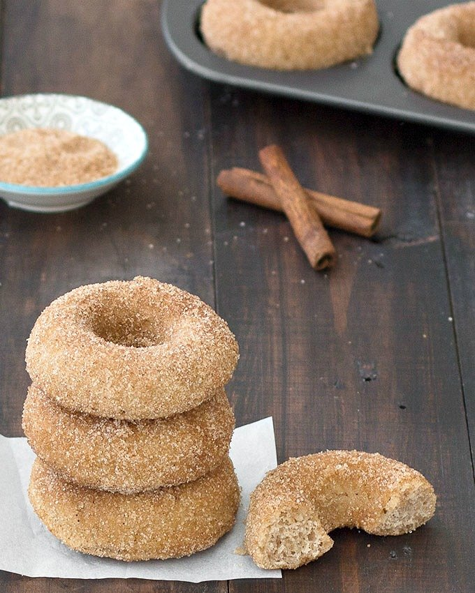 You're going to love these baked cinnamon sugar donuts. They are moist,