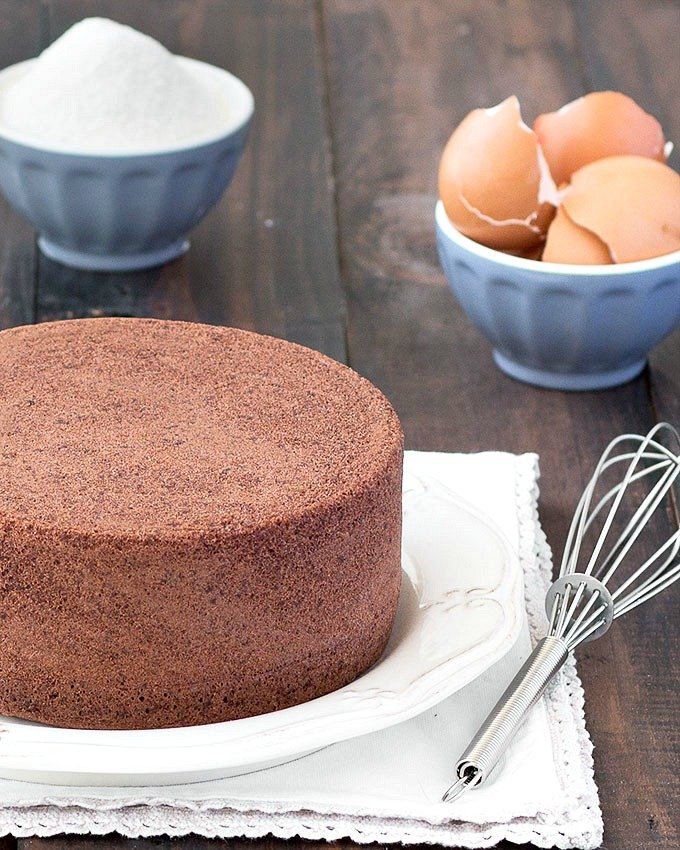 Egg Chocolate Sponge Cake Recipe