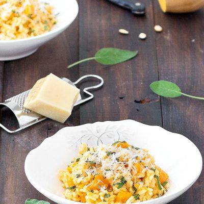 creamy butternut sage risotto